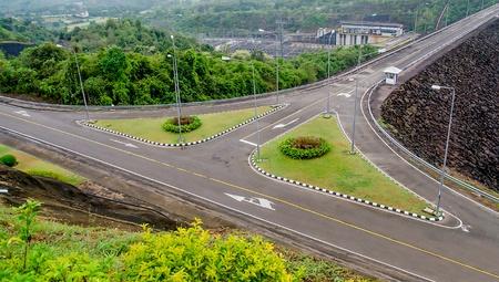 thani: Road on Ratchaprapha Dam Surat Thani province,Thailand