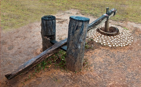 pestel: Ancient wooden mortar and pestel