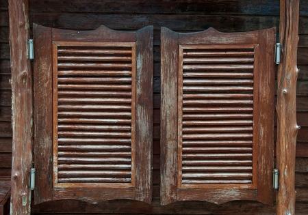 오래 된 서쪽 스윙 살롱 문