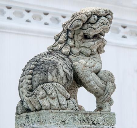 Foo dog statue drawing