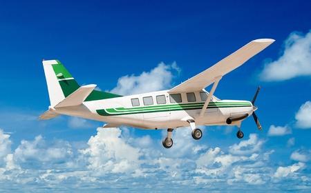 border patrol: Beautiful airplane on sky background