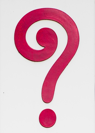 Sign of question mark isolated on white background photo