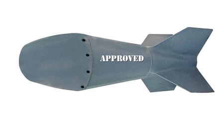 warhead: Missile isolated on white background Stock Photo