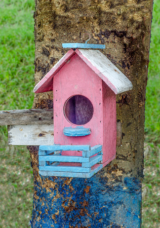 Wooden of birdhouse photo