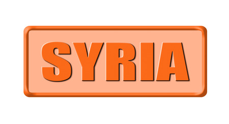 Button of syria isolated on white background photo