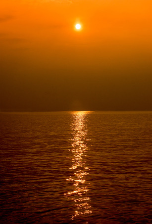 baltic: Sunset in the sea