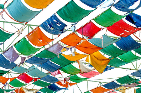 Colorful of sheet canvas of roof Stock Photo - 23210587