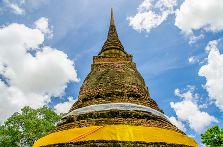 Old pagoda in sukhothai historical at sukhothai province,Thailand photo