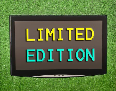 special edition: Lcd screen on artificial green grass of limited edition