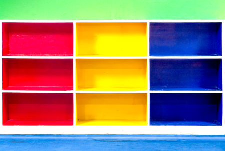 Abstract colorful of  shelf photo