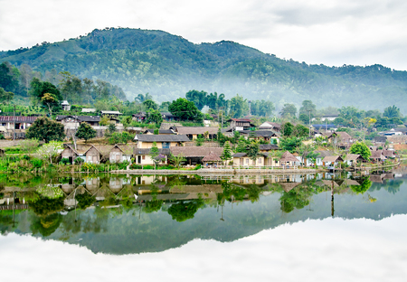 Ban Rak Thai Village, a Chinese settlement in Pai, Mae Hong Son province, Northern Thailand. Stock Photo