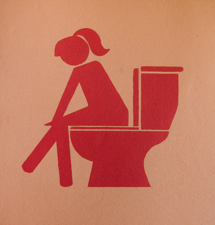 genders: Symbol of restroom Stock Photo