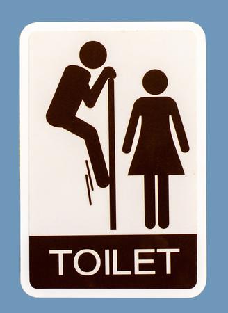 Symbol of restroom photo