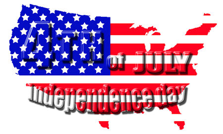 4th July Independence day isolated  photo