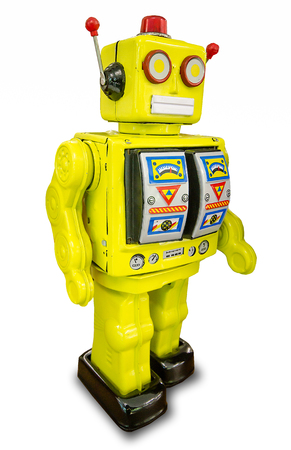 psychotic: Retro robot toy Stock Photo