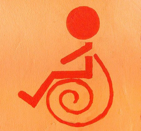Sign of Handicap or wheelchair person photo