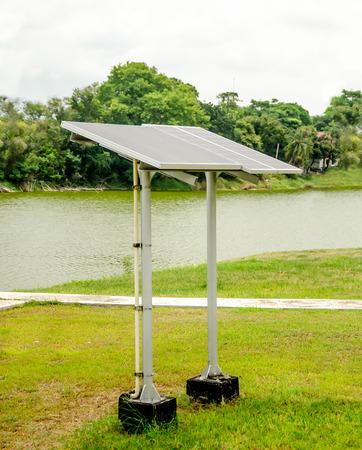 Solar panels for renewable electric energy production photo