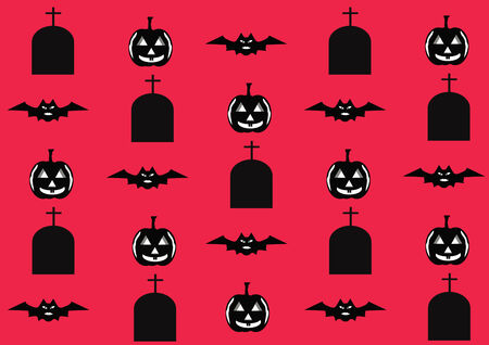 Halloween pattern design. vector illustration illustration