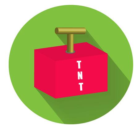 tnt: TNT explosion flat icon.Vector illustration