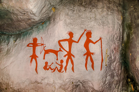Model of Famous prehistoric rock paintings Stock Photo