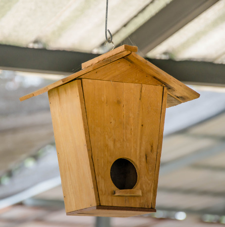 odd jobs: Wooden bird house