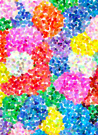many colored: Multicolored pointillized abstract, with colorful of light background