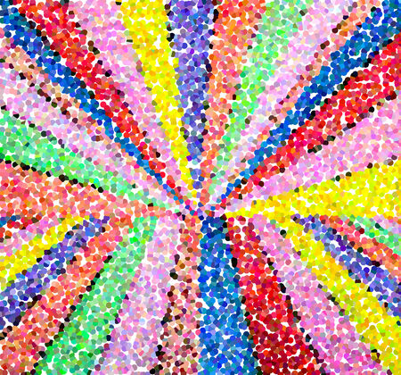conjoined: Multicolored pointillized abstract, with colorful of light background
