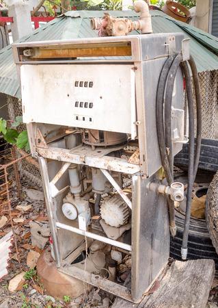 gasoline pump: Old gasoline pump Stock Photo