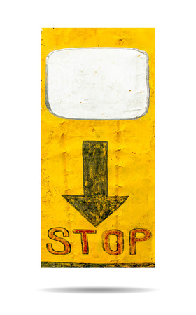 street wise: Sign of stop isolated on white background Stock Photo