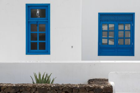 playa blanca: Colors on a typical house, Playa Blanca, Lanzarote, Canary Islands, Spain Stock Photo