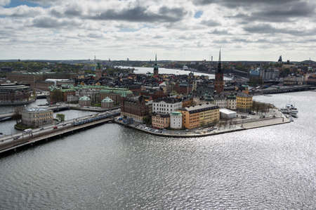 stan: The Stockholm city center, Gamla Stan, as seen from the Stockholm Stadhuset tower Stock Photo