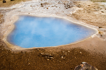 hot water geothermal: Geothermal hot water spring Stock Photo