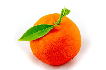 clementine: Single fruit of a clementine Stock Photo