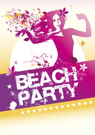 summer party: beach party poster Vettoriali