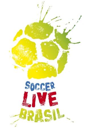 brazil soccer goblet Illustration