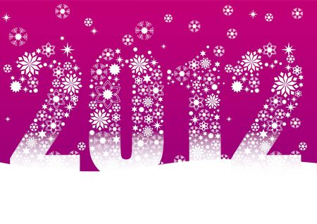 pink snowflakes 2012 Vector