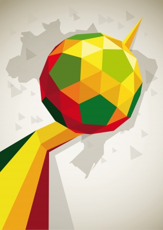 bung: fussball poster ball  Illustration