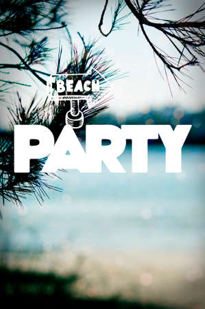 Beach Party Poster Stock Photo