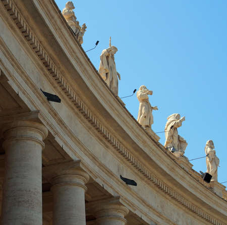 st  peter's square: Statues at St. Peters Square, Vatican Stock Photo