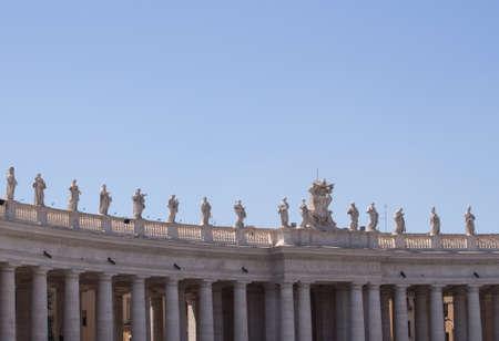 Statues at St. Peters Square, Vatican Banco de Imagens