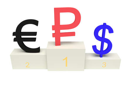 currencies: top currencies, strong Ruble, isolated