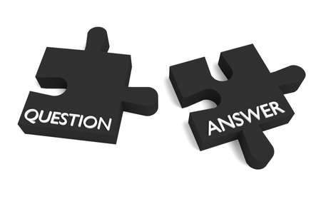 answer: Black puzzle, question and answer