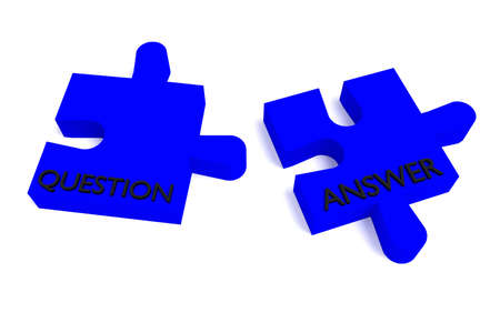 answer: Blue puzzle, question and answer
