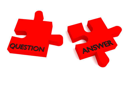 answer: Red puzzle, question and answer