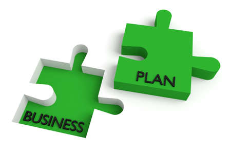 missing puzzle piece: Missing puzzle piece, business plan, green Stock Photo