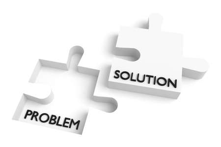 missing puzzle piece: Missing puzzle piece, problem and solution, white