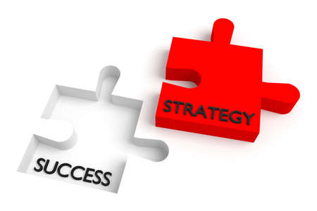 missing puzzle piece: Missing puzzle piece, strategy and success, red
