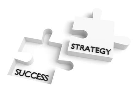 missing puzzle piece: Missing puzzle piece, strategy and success, white