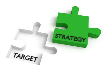 missing puzzle piece: Missing puzzle piece, strategy and target, green