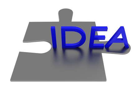 piece: Puzzle piece, idea, blue